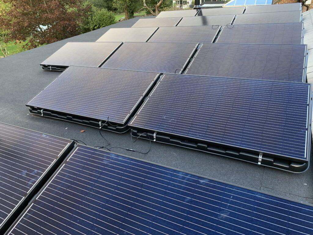 solar panels all black