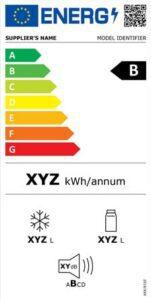Avrupa Birliği'nde 2021'den itibaren kullanılacak örnek buzdolabı etiketi