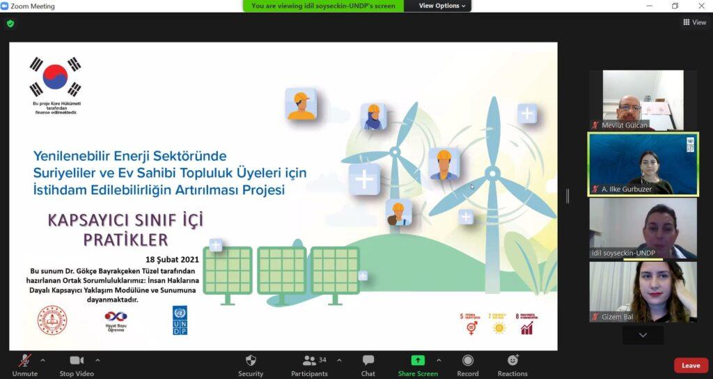 UNDP Türkiye Suriyeli eğitimi